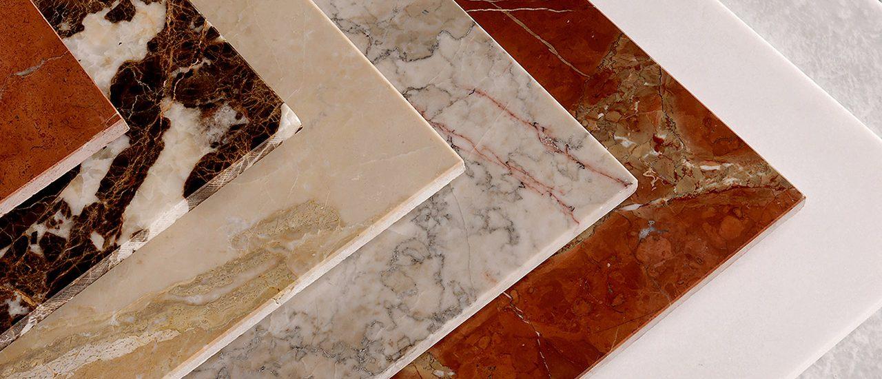 Pedras de cor exótica